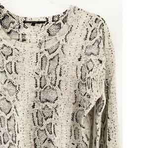 Generation Love •Snakeskin Print Cashmere Sweater